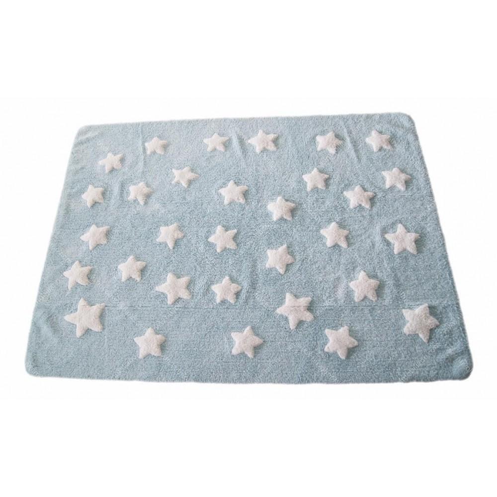 Alfombra Estrellas Nuvol Azul/Blanco