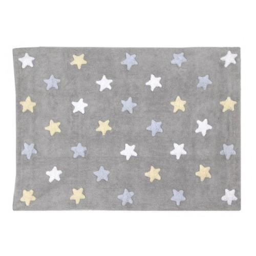 Alfombra Estrellas Tricolor Lorena Canals Gris - Azul