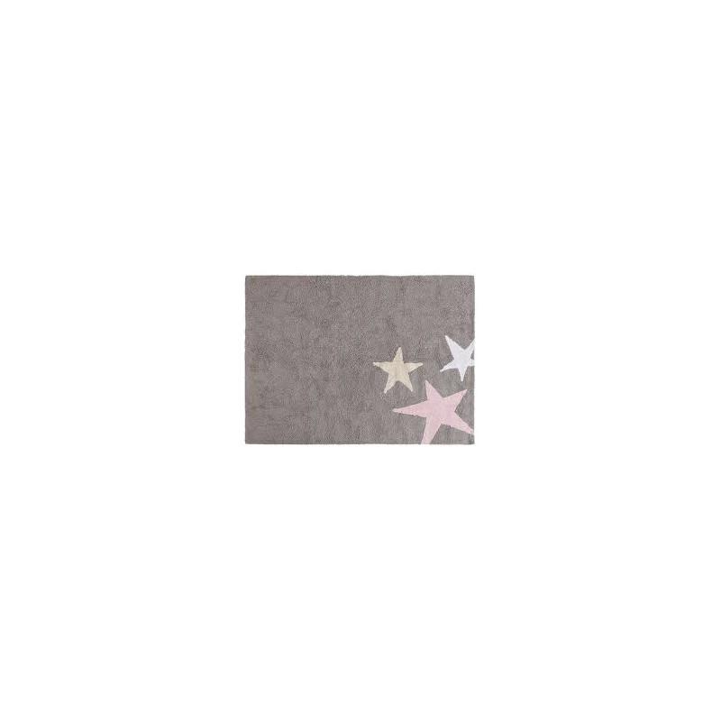 Alfombra Tres Estrellas Tricolor Rosa Lorena Canals