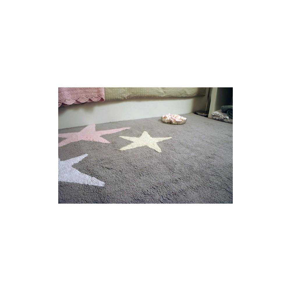 Alfombra tres estrellas tricolor rosa lorena canals - Alfombra lorena canals ...