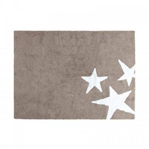 Alfombra Tres Estrellas Lino-Blanco Lorena Canals