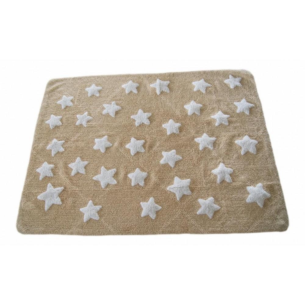 Alfombra Estrellas Nuvol Beis/Blanco