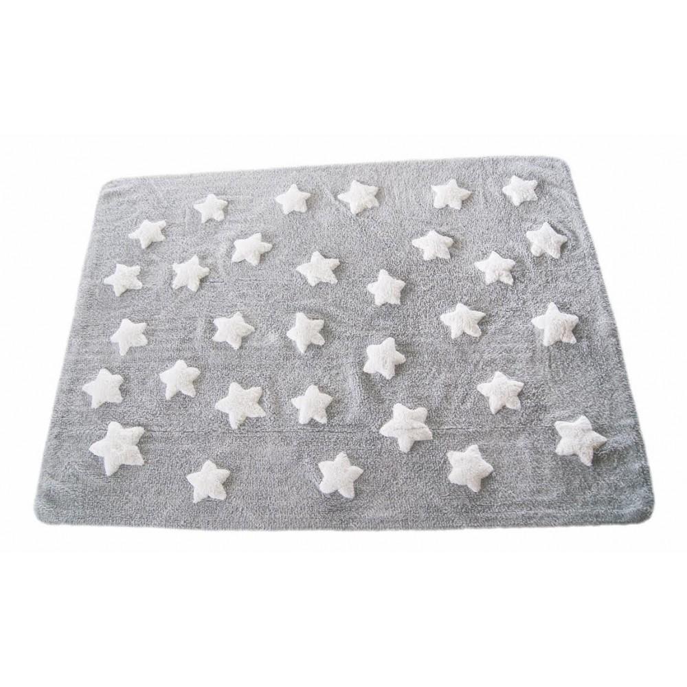 Alfombra Estrellas Nuvol Gris/Blanco