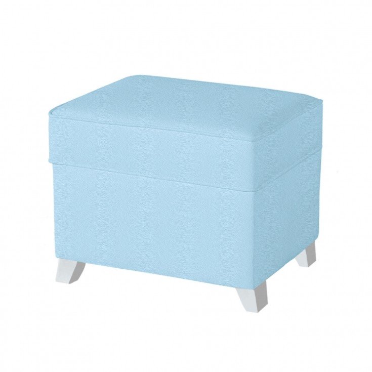 Puff Polipiel Azul